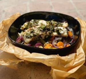 Fisch im Ofen garen – Seebarsch