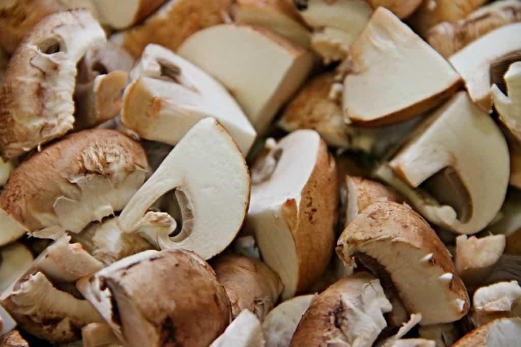 Geschnittene Pilze lagern
