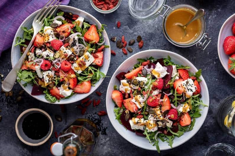Low Carb Rezept – süß-salziger Salat