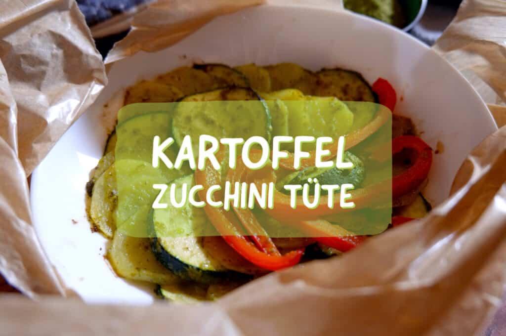 Kartoffel Zucchini Päckchen mit der Kochtüte